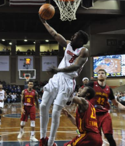 Bubu Palo scores two of his 12 points in the Skyforce 102-91 win over Fort Wayne Saturday night.